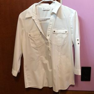 New York & Company white button down shirt